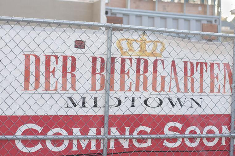Der Biergarten will be a German styled beer garden. They will have German beers and food. Midtown will soon have a small taste of Germany.