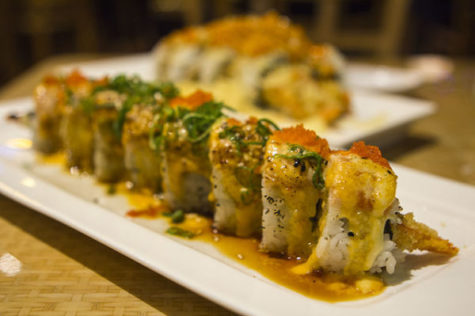 The Golden Dragan roll is one of Sushi Hook's most popular.