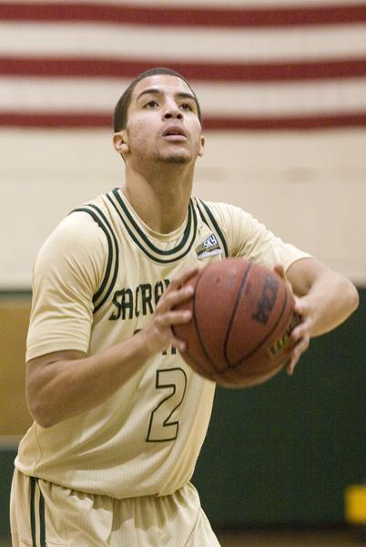 Hornet sophomore guard Cody Demps matched his career high with 16 points against Portland State in Portland.