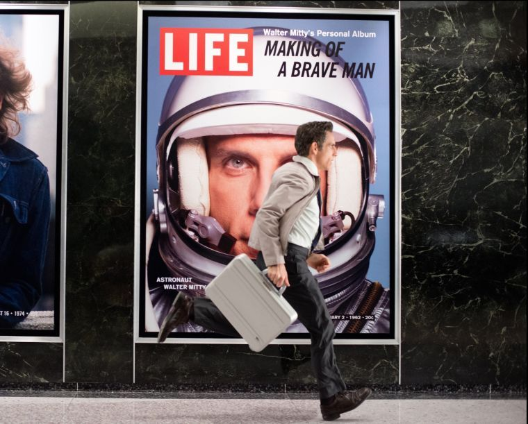 Walter Mitty (Ben Stiller) runs to a promising future. (Courtesy Wilson Webb/MCT)