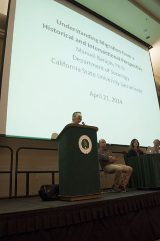 International Education Week kicked off Monday with a faculty panel on migration in the University Union Ballroom.