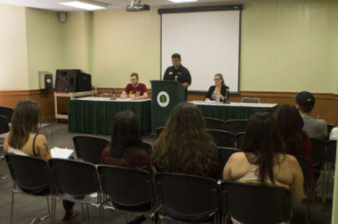 Approximately a dozen people attend the open forum Monday hosted by ASI, who are preparing for next week's elections.