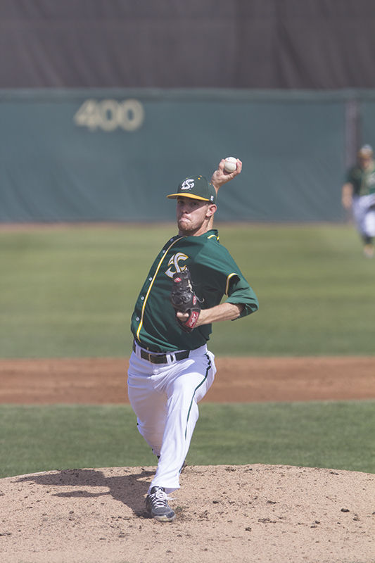 Ty Nichols started the game for Sacramento State against the No. 18 ranked UC Santa Barbara Gauchos on Sunday, March 8, 2015 at John Smith Field. Nichols threw a solid six innings, giving up only four hits and two unearned runs. The Hornets went on to lose the game 8-6 in 11 innings.