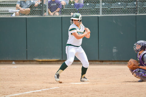Sacramento State Hornets' first baseman, Sasha Margulies, steps into the batter's box against Weber State University at Shea Stadium in Sacramento, Calif., on Friday, April 24, 2015. Margulies is batting .413 this season and won the Big Sky Player of the Week award on April 13.