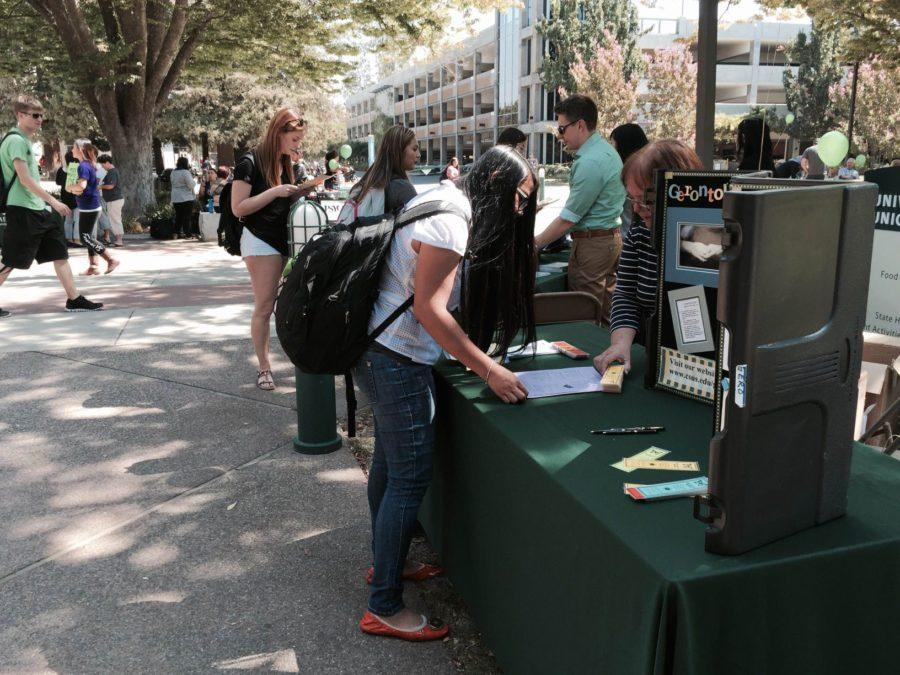 Students check out the major fair for SSIS on September 8, 2015 to see if it is something that interest them.