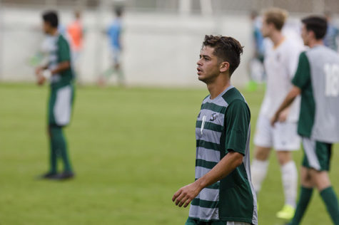 Sacramento State midfielder Bert Corona anticipates the next play against UC Irvine on Oct. 8, 2015 at the Hornet Field