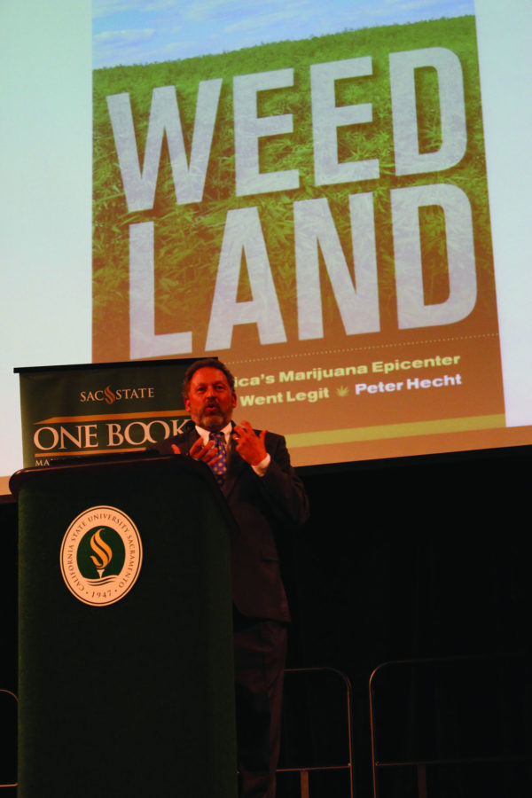 Author Peter Hecht speaks about his book Thursday, Oct. 8, 2015 in the University Union. He is this year's One Book author.