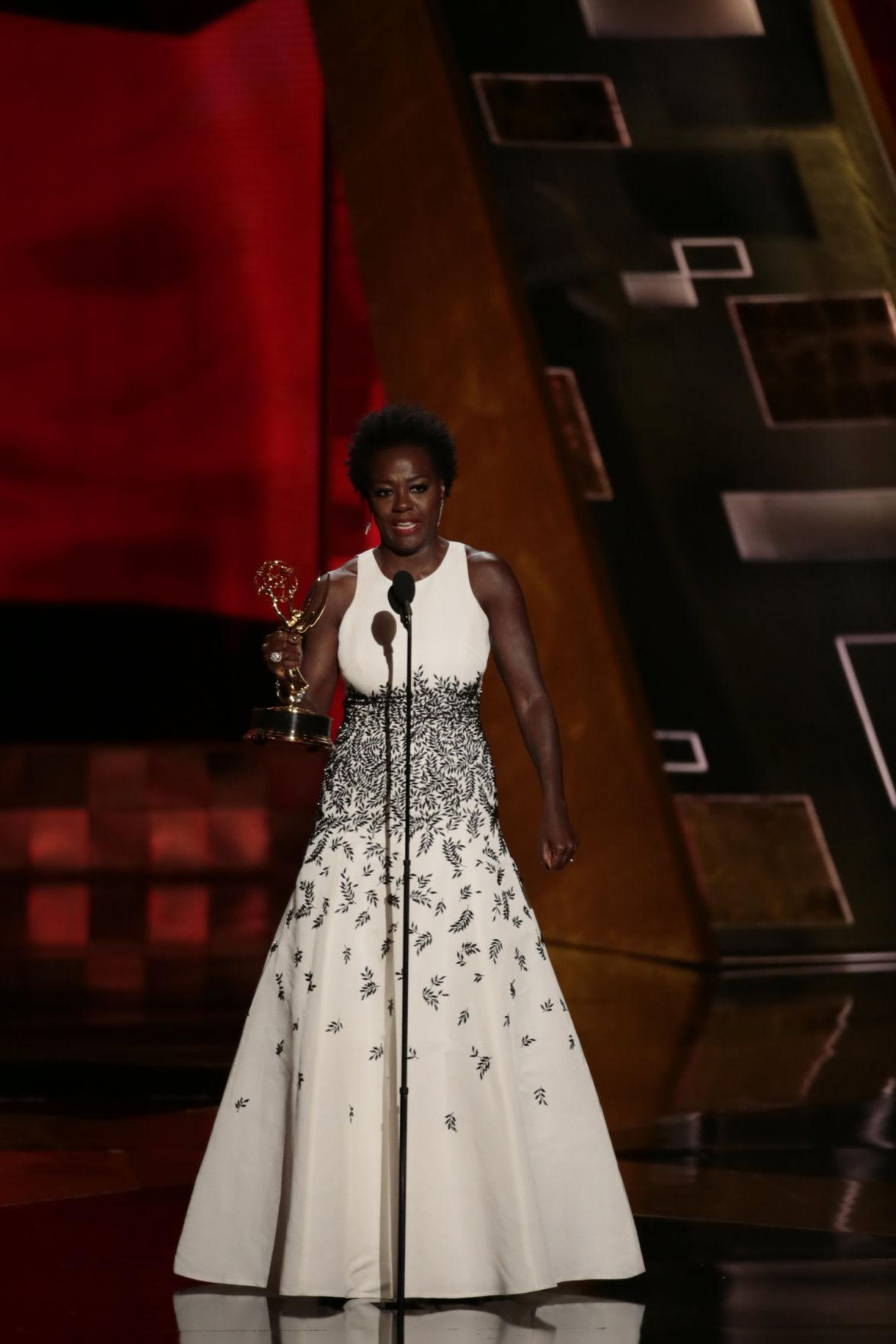 Viola Davis during the 67th Annual Primetime Emmy Awards at the Microsoft Theater in Los Angeles on Sunday, Sept. 20, 2015. (Robert Gauthier/Los Angeles Times/TNS)