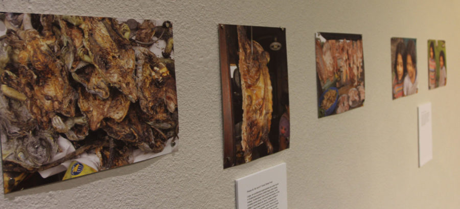 Most food is shopped in local markets with rarely any supermarkets. Images found in North Hall Gallery in the library.