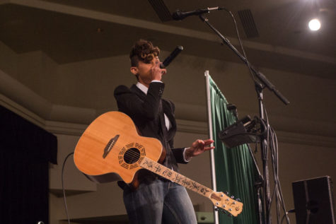 Antoinette Clinton, also known as Butterscotch, performs for Sacramento State students in the University Union Ballroom, Thursday, March 3.