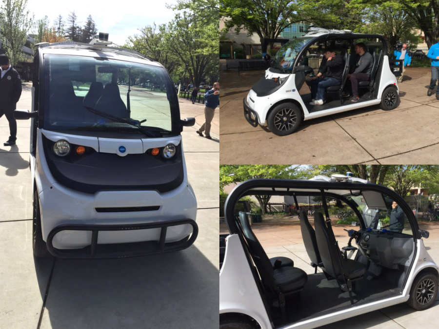 Bay+Area-based+Varden+Labs+brought+the+all-electric%2C+self-driving+shuttle+for+a+two-day+demo+at+Sacramento+State+in+March+2016.+The+shuttle+can+seat+up+to+four+passengers+%E2%80%94+including+a+backup+driver+%E2%80%94+and+uses+motion+sensors+to+detect+surrounding+traffic+on+campus.