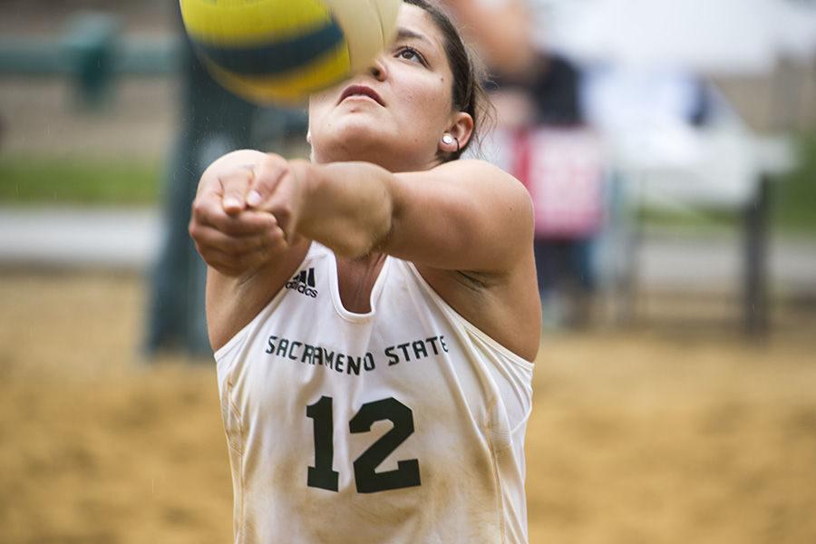 Sac State beach volleyball player Hannah Meadows
