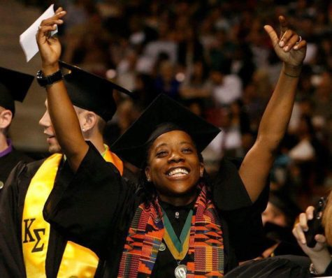 "Melquiesha Warren, known to her friends as ""Mel,"" celebrates during the 2012 CSUS graduation commencement. Warren was killed months later while leaving a San Francisco club. (Photo courtesy of Jazmyn Bedford)"