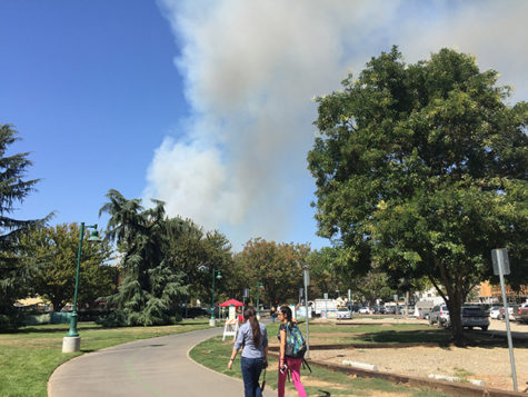 Large fire burning near Cal Expo prompts evacuations