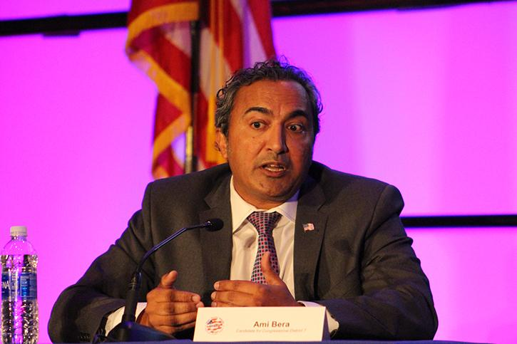 Democratic+incumbent+Ami+Bera+speaks+during+the+Asian+Pacific+Islander+American+Public+Affairs+Association%27s+Candidate+Forum+on+Saturday%2C+Sept.+24+in+the+University+Ballroom.+Bera+is+running+to+retain+his+seat+in+California%27s+7th+Congressional+District+against+Republican+candidate%2C+Sacramento+Sheriff+Scott+Jones.+%28Photo+by+Kameron+Schmid%29