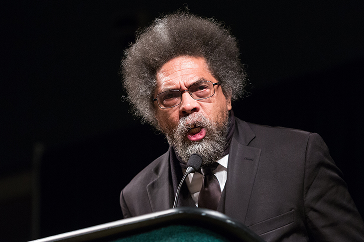 Cornel+West+speaks+to+the+crowd+assembled+in+the+University+Union+Ballroom+at+Sacramento+State+on+Thursday%2C+Sept.+29.+West%27s+appearance+drew+a+crowd+of+around+3%2C000+in+total%2C+only+about+1%2C600+of+which+could+fit+into+the+University+Union+Ballroom.+%28Photo+by+Francisco+Medina%29