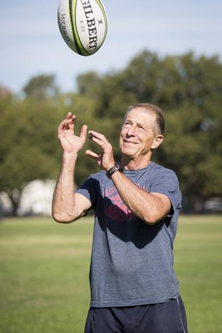 Sacramento State recreation, parks and tourism administration professor Steve Gray is a new member of the U.S. Rugby Hall of Fame. Gray coached the San Diego State Aztecs to a National 15s Championship in 1987. (Photo by Jessica Vernone/Sacramento State)