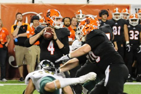 Hornet football drops fourth straight game to Idaho State, 42-34