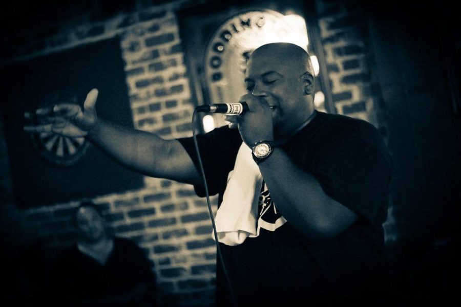 Rapper Mr. Hooper performs at the Old Ironsides bar on Feb. 27. He will hit the stage at the University Union Serna Plaza for a Nooner concert on Oct. 12. (Courtesy of Letrice Fowler)