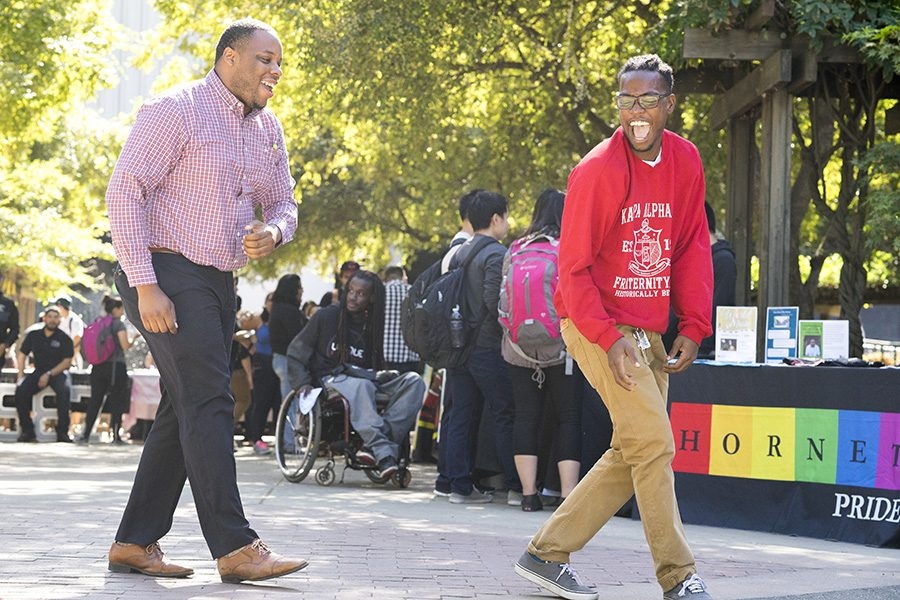 Members from various clubs and organizations on campus participated in the first-ever Cultural Clubs Fair on campus, Tuesday, Oct. 11. (Photo by Michael Zhang)
