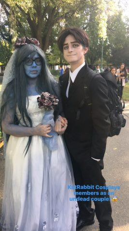 "Two members of KatRabbit Cosplay as characters from the 2005 film ""Corpse Bride"""