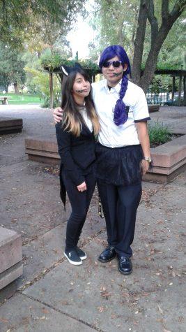 Amy Espinoza as a cat butler demon and Phillip Tran as a demon girl