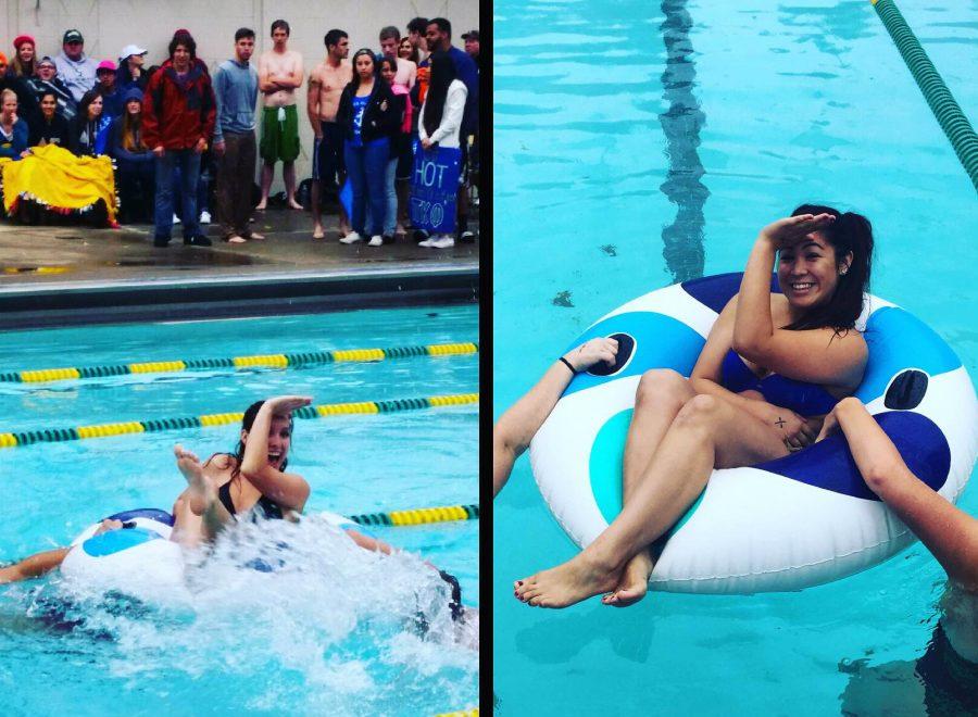 Delta+Eta+members+compete+in+the+swim+meet+at+the+Anchor+Splash%2C+Oct.+25%2C+2014.%0A%28Courtesy+of+Delta+Gamma%29