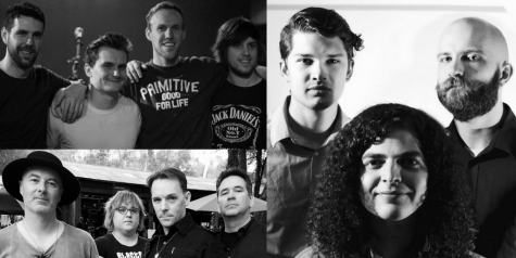 Local bands Bad Mother Nature (top left), Atlas Park (bottom left) and Plots (right) will compete against five other musical groups at Sac State's third annual Battle of the Bands competition in the University Union Ballroom, Thursday. Dec. 1. (Photos courtesy of the bands)