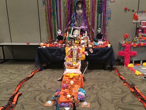One of the many altars at the Dia de los Muertos celebration in the University Union Ballroom on Nov. 2 (Photo by Daisy Gutierrez Jimenez)