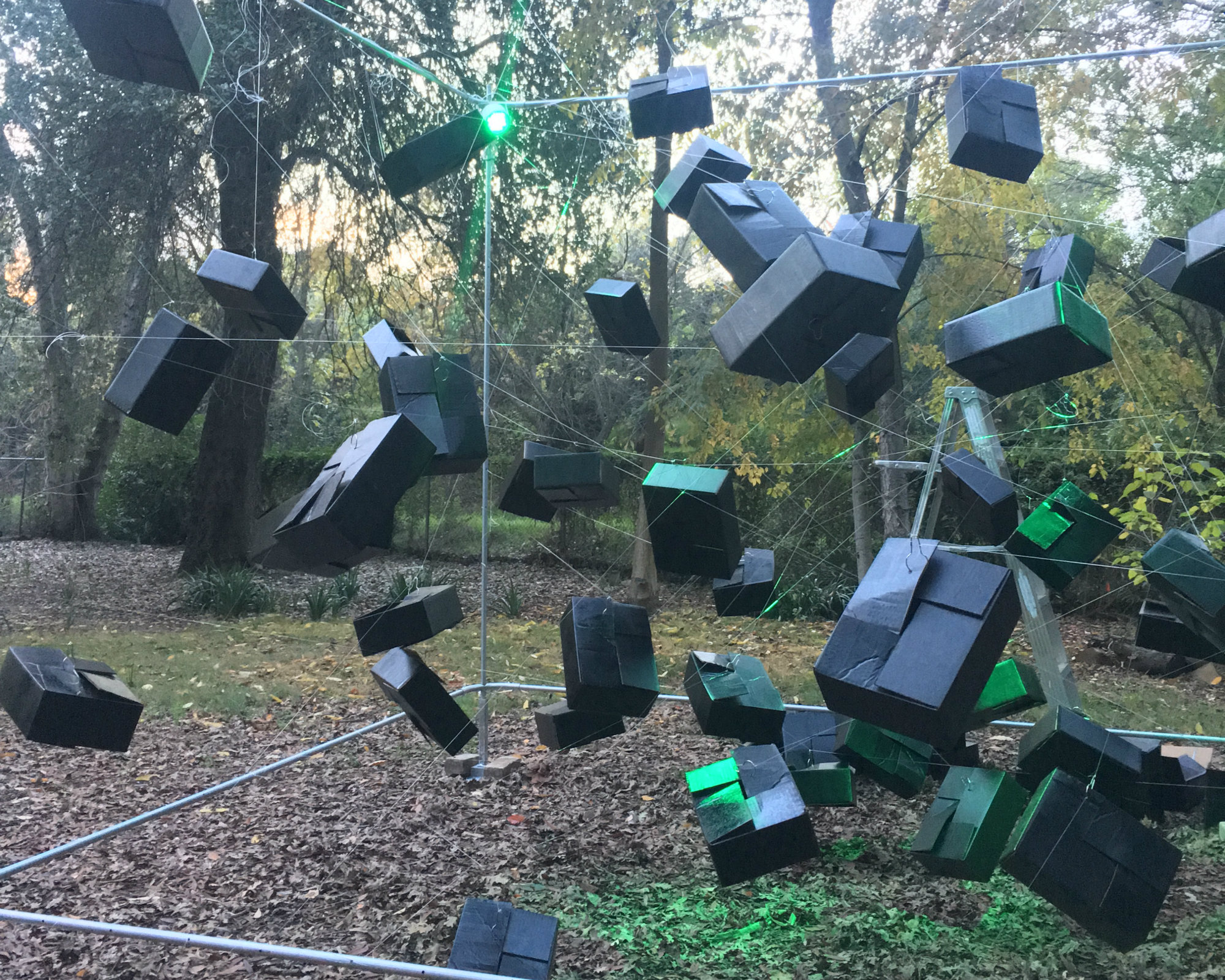 Senior art major Tammy Helenske's elaborate set for her performance at show entitled