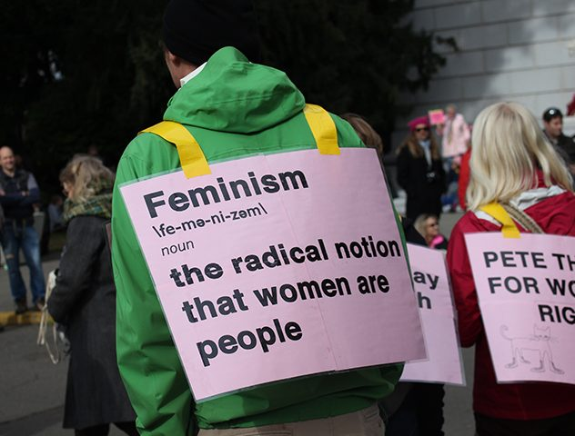 Demonstrators+wear+printed+signs+in+support+of+women%27s+rights+at+the+Women%27s+March+on+Sacramento+at+the+State+Capitol+on+Saturday%2C+Jan.+21%2C+2016.+%28Photo+by+Barbara+Harvey%29