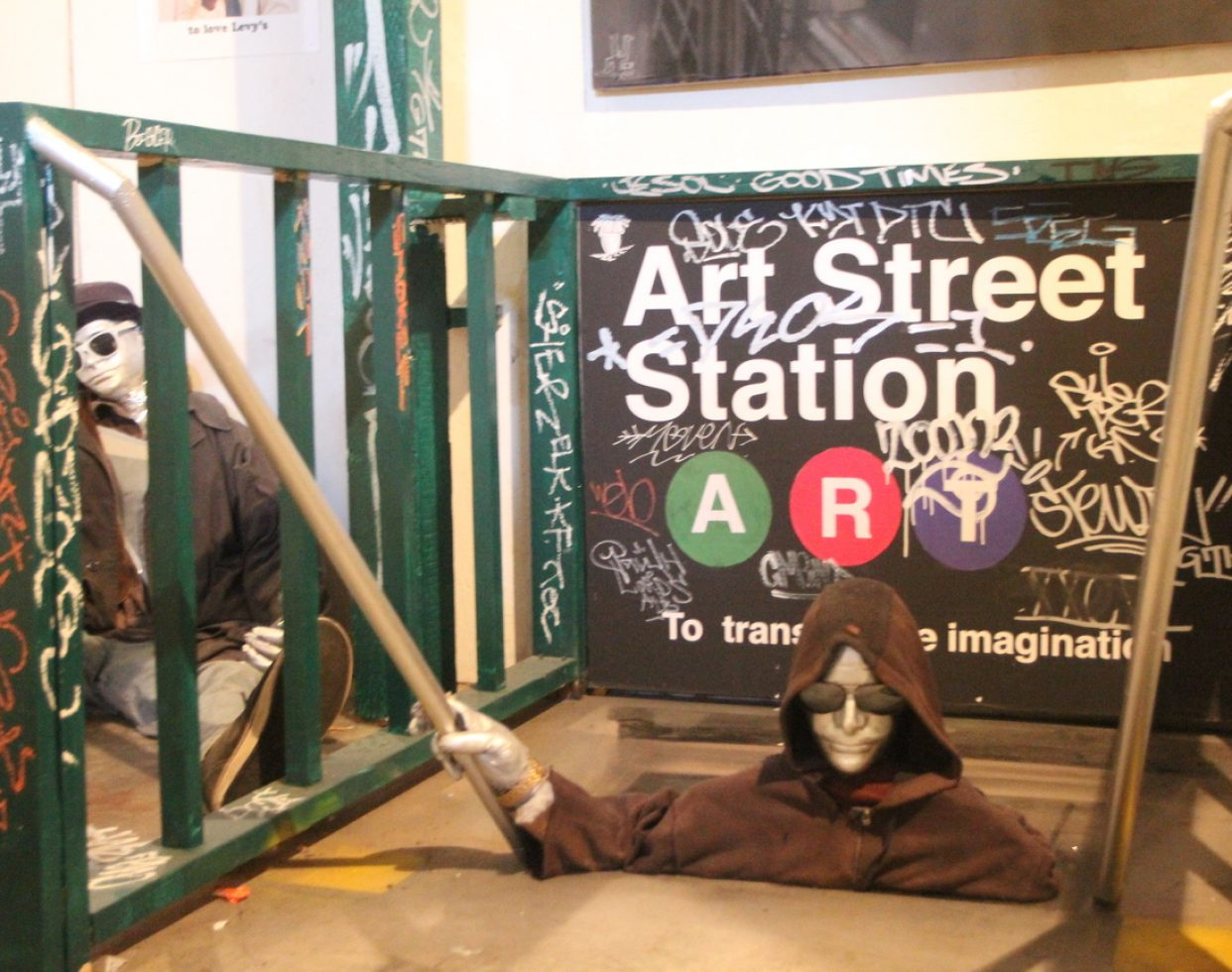 A New York City subway-like installation at ArtStreet (Photo by Sami Soto)