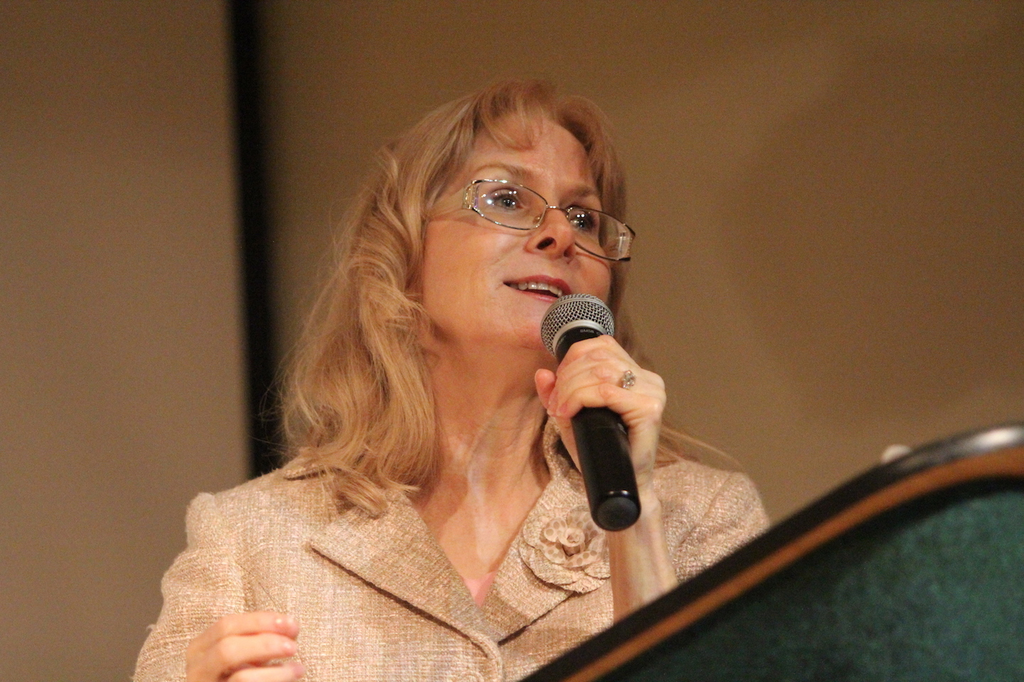 Cynthia Pettross speaks about Christian women issues at the