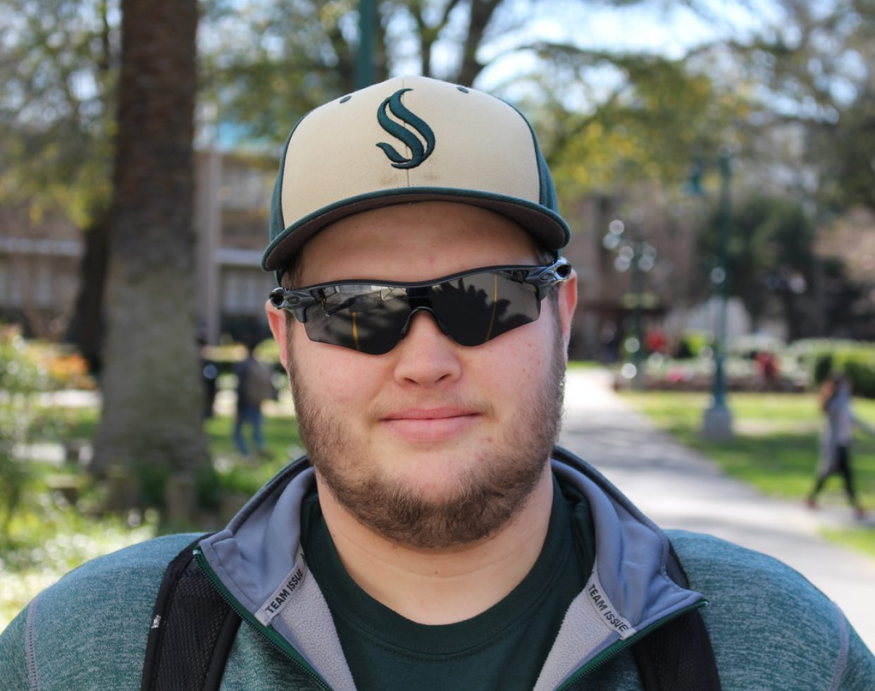 "Josh Adams (Graphic design): ""Pay for my textbooks. I spend close to $400 every semester."""