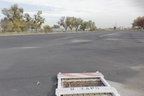Ramona Lot, about two miles away from campus, is set to be open all semester in the fall, as 1000 parking spaces on campus are going to be obstructed during construction. (Photo by Rin Carbin)