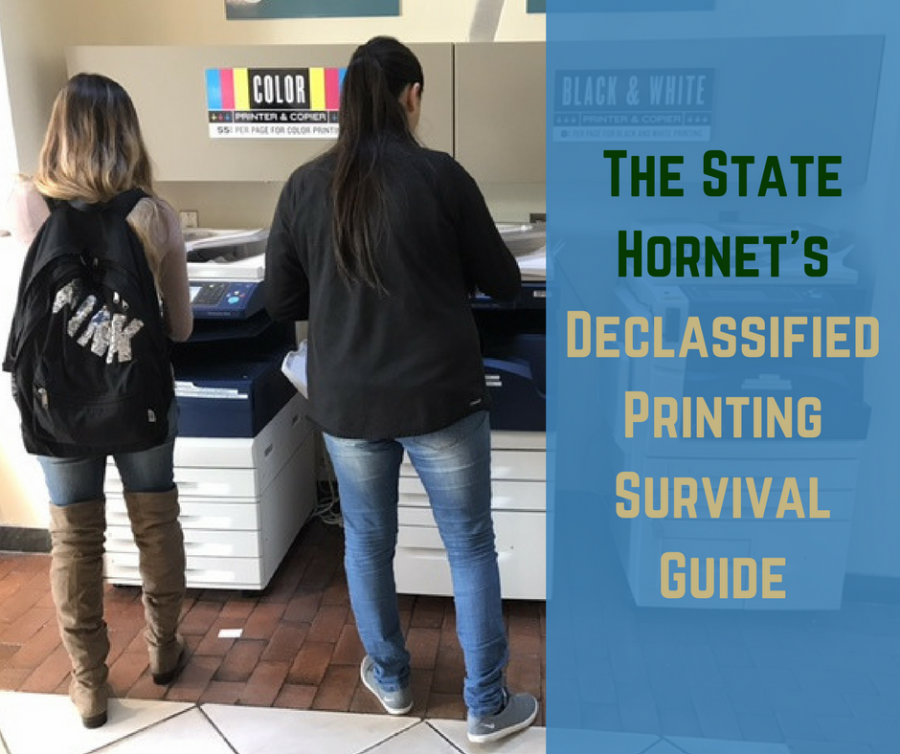 The State Hornet's Delcassified Printing Survival Guide