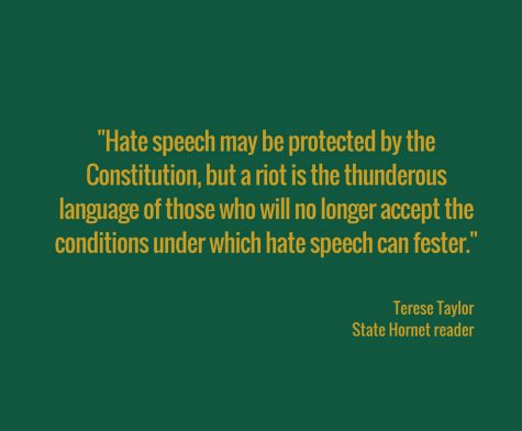 Letter to the editor: Hate speech 'must be shut down'