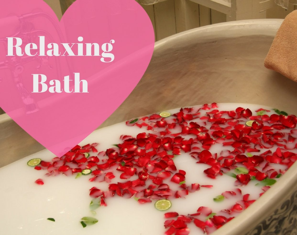 Create a more romantic atmosphere by scattering rose petals around the bath and on the floor. Light the room with a soft glow by placing lit candles on the counter top. Toss a bath bomb in the water to get lost in a sea of colorful foam.  (Photo: Dennis Wong // Flickr)