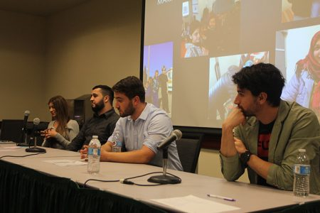 Overseas volunteers speak at 'Through the Eyes of Refugees' panel