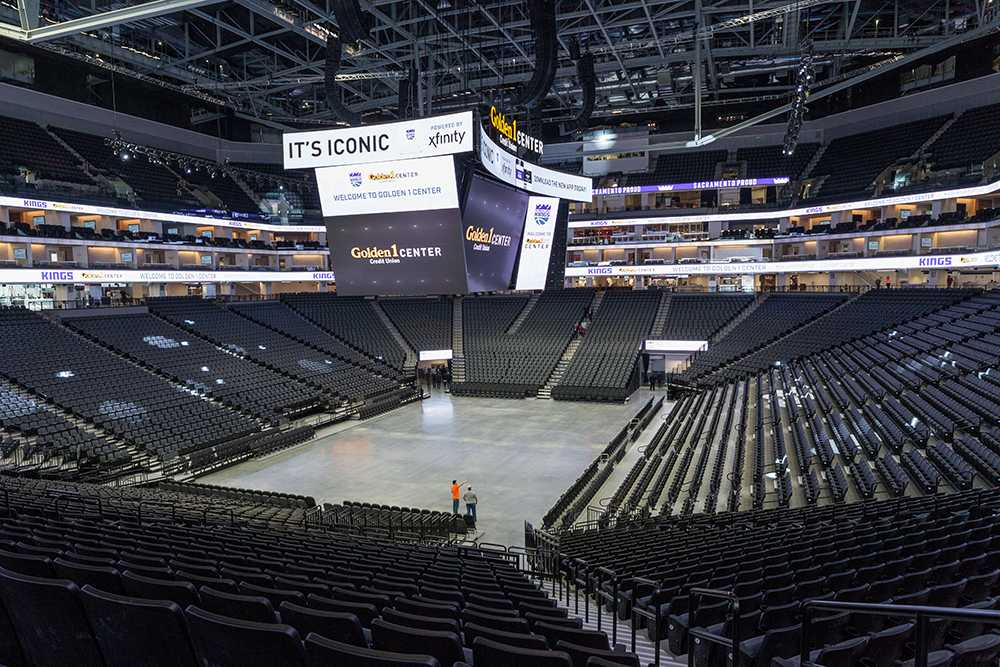 The Golden 1 Center, pictured, is the planned location for Sacramento State's May 2017 graduation ceremonies. The city, the Sacramento Kings and the university are currently discussing labeling the commencement as a civic event in order to bring down the cost to the school, according to a city official. (Photo by Francisco Medina)