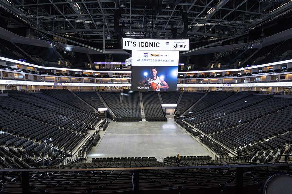 The Golden 1 Center, pictured, will be the location for May's Sacramento State graduation ceremonies. The city, school and the Sacramento Kings have reached an agreement that allows the school to avoid paying a $50,000 fee to use the space. (Photo by Francisco Medina)