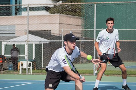 Men's tennis team shuts out Northern Colorado in 7-0 win