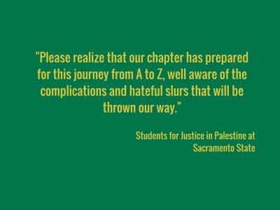 Letter to the editor: Students for Justice in Palestine responds to social media critics