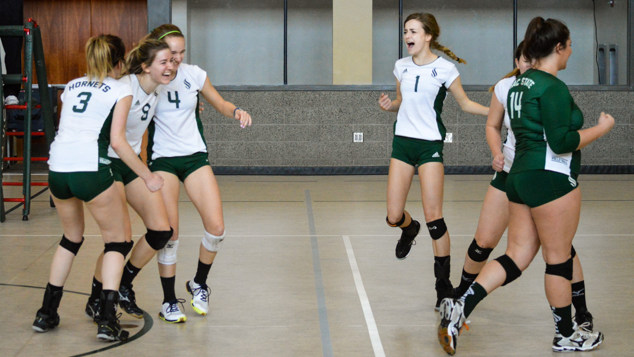 The Sacramento State women's volleyball club moved from Division II to Division I this season and finished the year ranked third in the Northern Division. (Photo courtesy of Jackie Pulatie/Sacramento State women's volleyball club)
