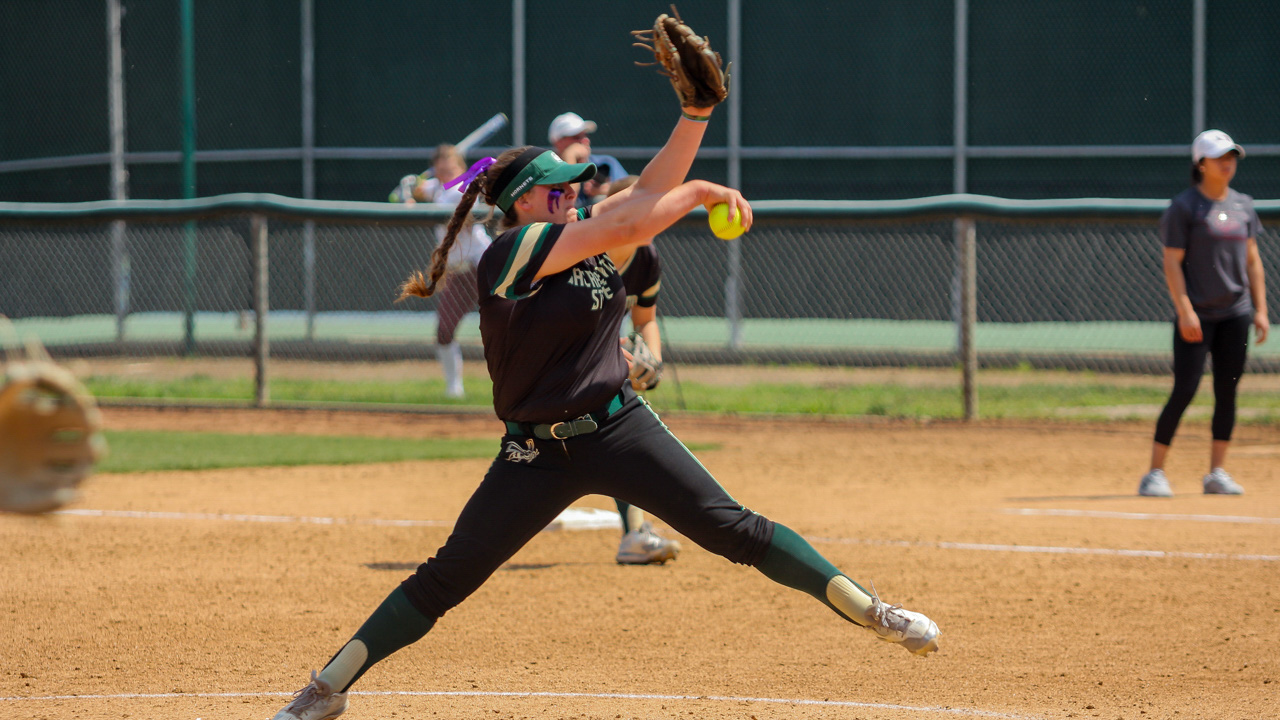 Sacramento State senior pitcher Taylor Tessier throws the ball for a strike against Montana on April 9 at Shea Stadium. (Photo by Raul Hernandez)