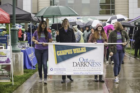 Students walk 'Out of the Darkness' in solidarity for survivors and victims of suicide