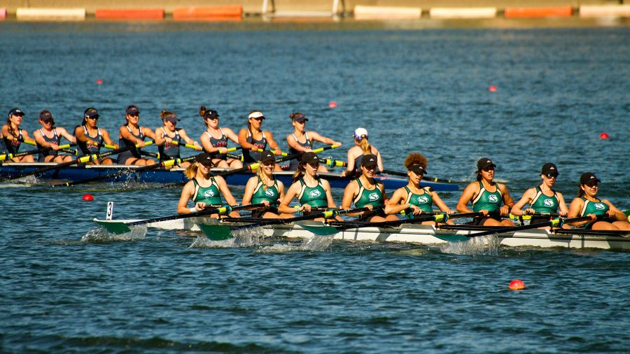 The+Sacramento+State+rowing+team+competes+in+the+Western+Intercollegiate+Rowing+Association+Championships+against+30+other+schools+Saturday+at+Lake+Natoma.+%28Photo+by+Michael+Zhang%29