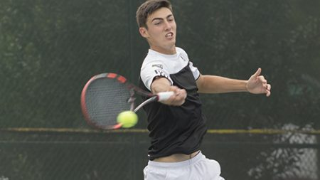 Sac State men's tennis junior Kasparas Zemaitelis