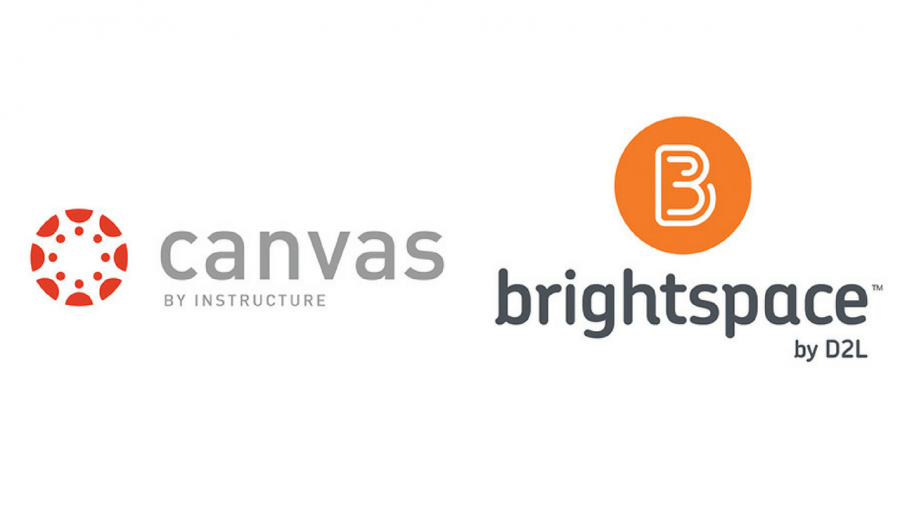 Sacramento State intends to replace its current online classroom website, Blackboard, with either Instructure Canvas or D2L Brightspace. (Logos courtesy of Instructure Canvas and D2L Brightspace)