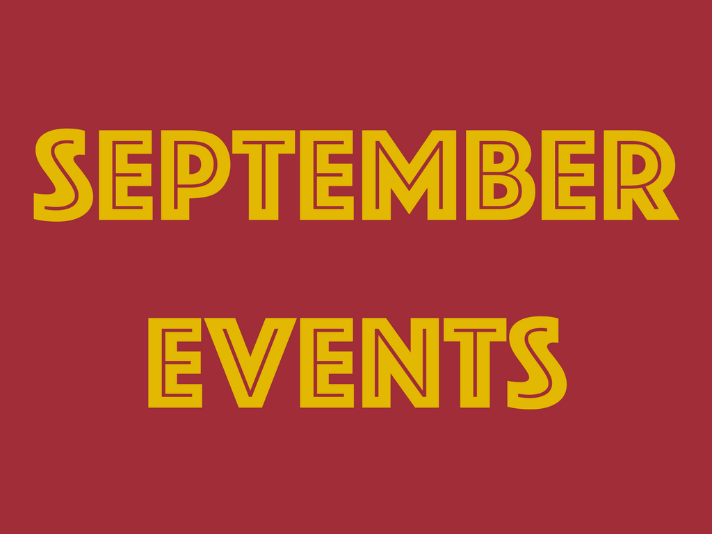 Hottest upcoming events in September